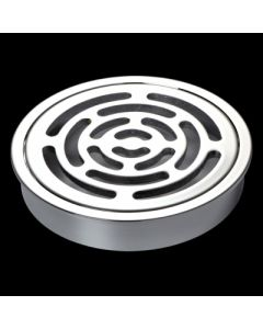 100mm Maze Chrome Round Floorwaste