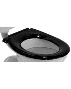 Caroma Caravelle Commercial Seat Single Flap - Black