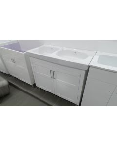 Double Ceramic Bowl Laundry Tub