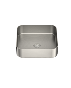Nero Square Stainless Steel Above Counter Basin - Brushed Nickel