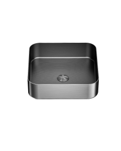 Nero Square Stainless Steel Above Counter Basin - Graphite