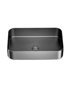 Nero Rectangle Stainless Steel Above Counter Basin - Graphite
