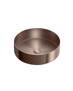Nero 400mm Stainless Steel Above Counter Basin - Brushed Bronze