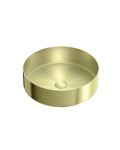 Nero 400mm Stainless Steel Above Counter Basin - Brushed Gold