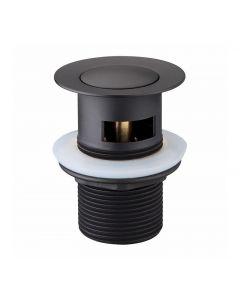 Modern National 32mm Matte Black Plug and Waste Overflow