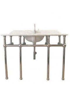 Mayer Single Washstand With 120 x 55 Real Carrara Marble Top