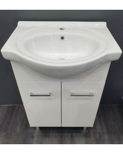 600mm Semi Recessed Vanity