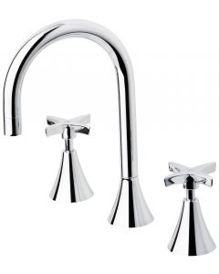 Phoenix Tapware Wave Basin Set Chrome