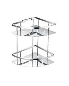 Stainless Steel Double Corner Basket 220mm X 220mm X 320mm