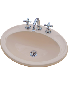 Vanitone Classic Drop In Basin White and Ivory