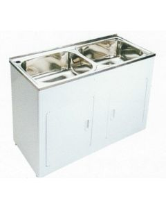 Double 45Ltr Laundry Tub Unit