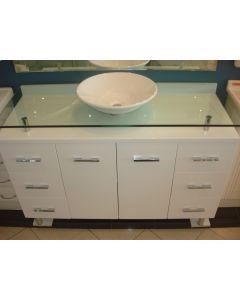 1200mm x 490mm Glass Vanity Unit