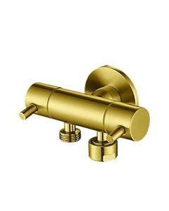 Linkware Dual Control Mini Cistern Cock PVD Gold