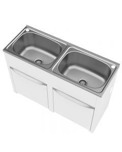 Clark Eureka Double Laundry Tub and Cabinet