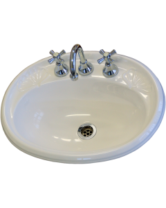 Vanitone Federation Drop In Basin White and Ivory