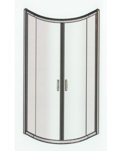 Samco 900mm x 900mm Fully Framed Curved Shower Screen