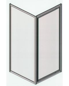 Samco 900mm x 900mm Framed Square Shower Screen