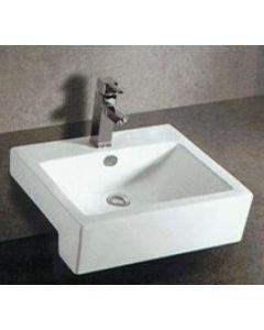 Samco 520mm Semi Recessed Square Basin