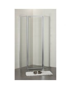 ACL 1000mm x 1000mm Diamond Semi Frameless Shower Screen