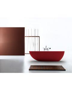1700mm Bahama Freestanding Bath GLOSS Red and Black