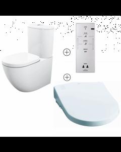 TOTO Basic+ Washlet Bidet Toilet Suite with Auto Function Toilet Seat